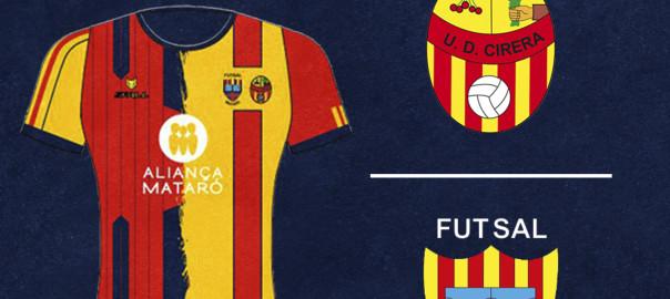 Cartel UD Cirera - Futsal Mataró
