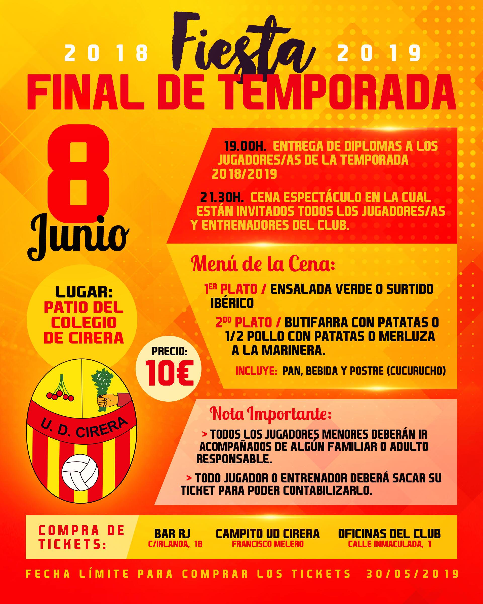 Fiesta Final de Temporada UD Cirera 2018/19