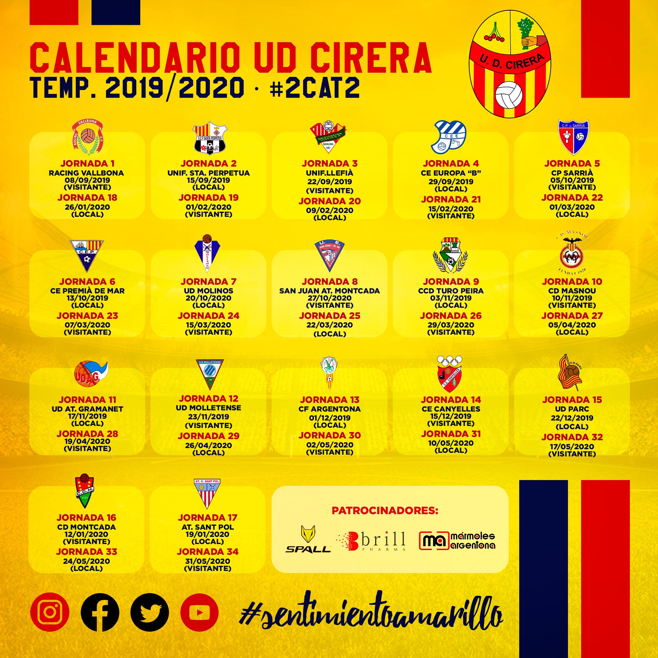 Calendario de Liga 2019/20